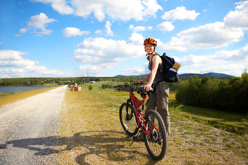 Download Cycling stock photo. Image of laugh, hike, camping, life - 6243452