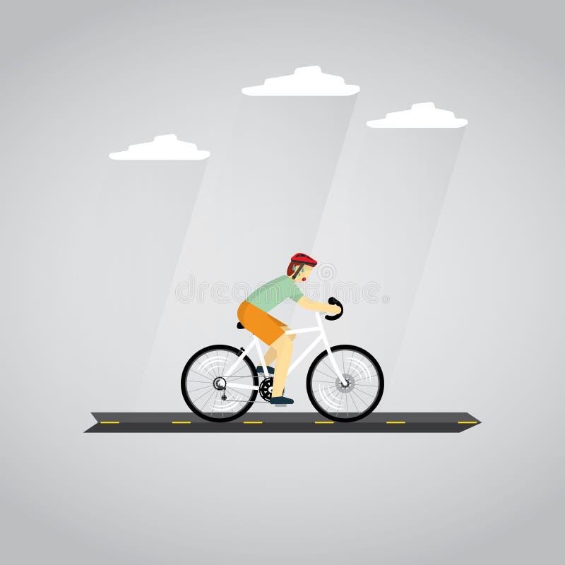 cycling ilustração do vetor