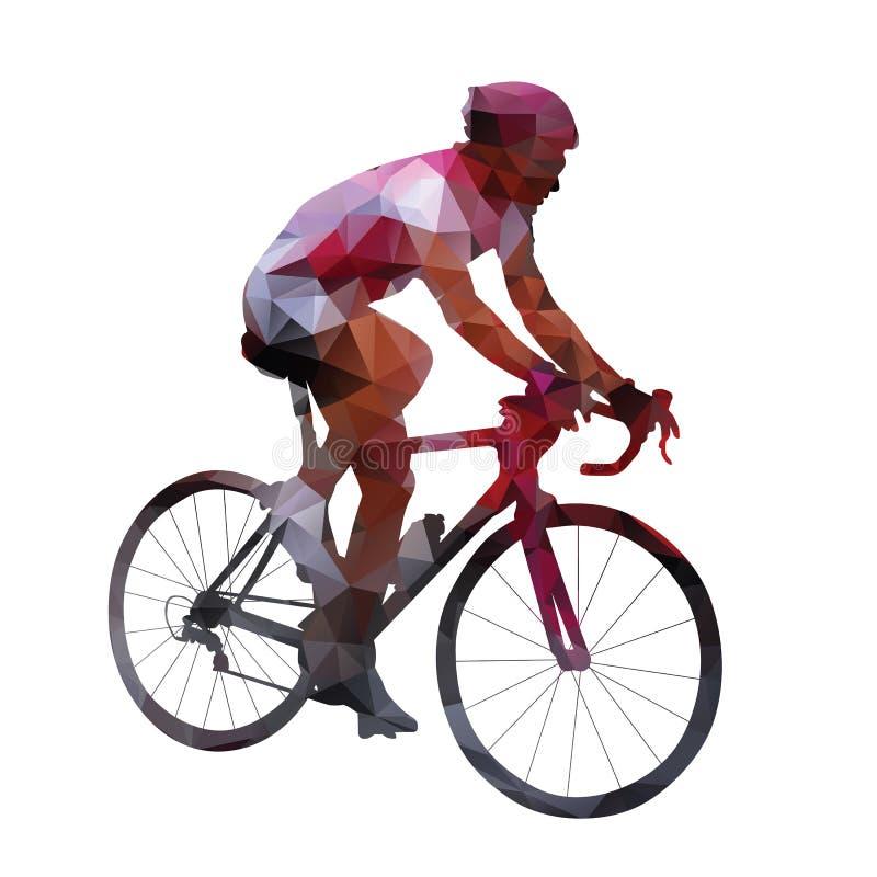 cycling Abstracte geometrische vectorwegfietser vector illustratie