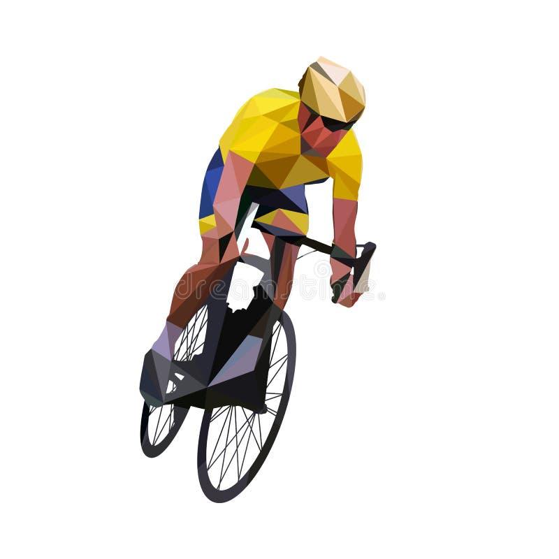 cycling Abstracte geometrische vectorwegfietser royalty-vrije illustratie