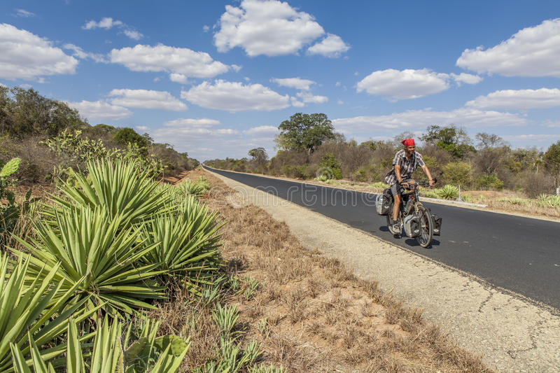 Cycling in Africa stock photography
