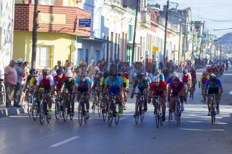 Cycling back to Cuba royalty free stock photos