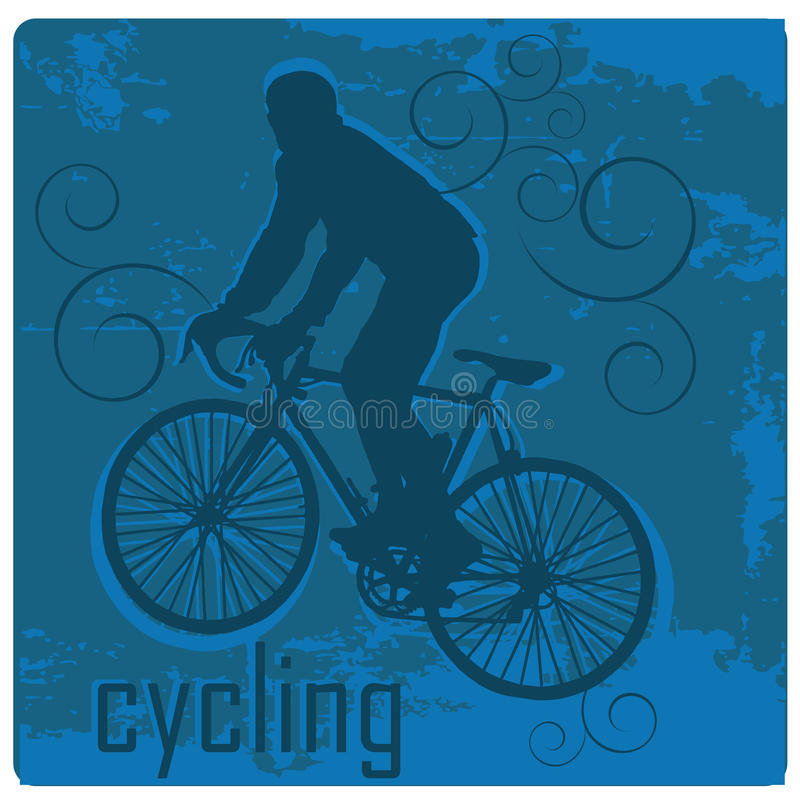 Download Cycling stock vector. Image of bike, ride, color, drawing - 36078645