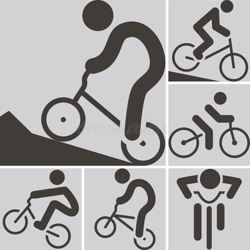 Cycling BMX icon. Summer sports icons - cycling BMX icon vector illustration