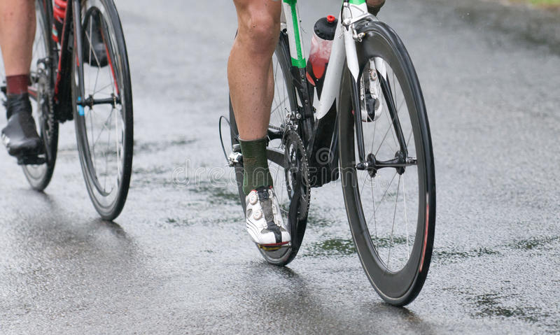 Download Cycling Competition Under The Rain Stock Image - Image: 20757587