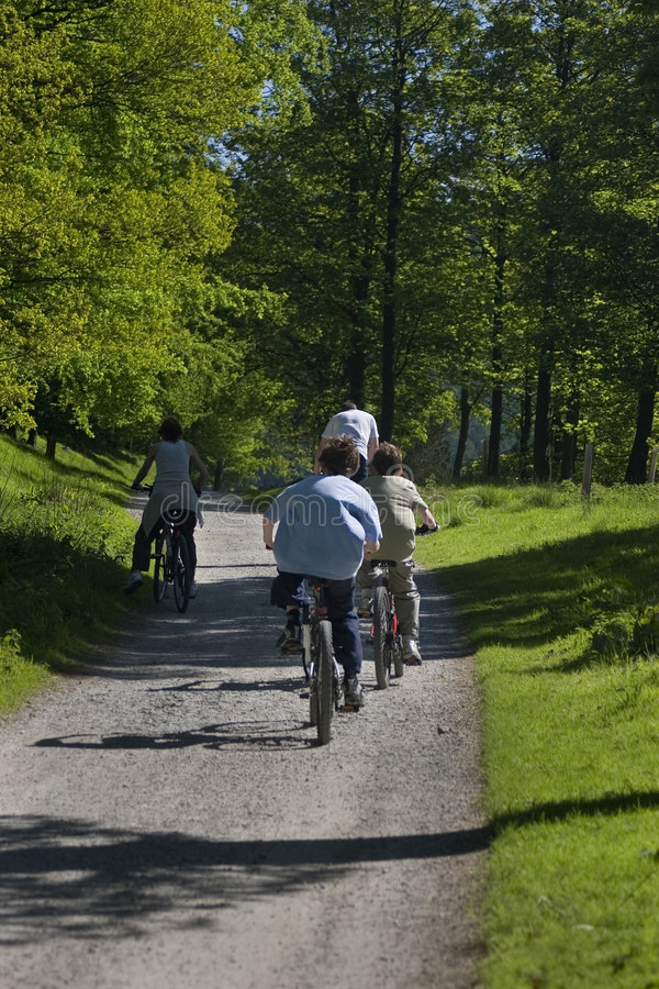 Cycling in the country royalty free stock photo