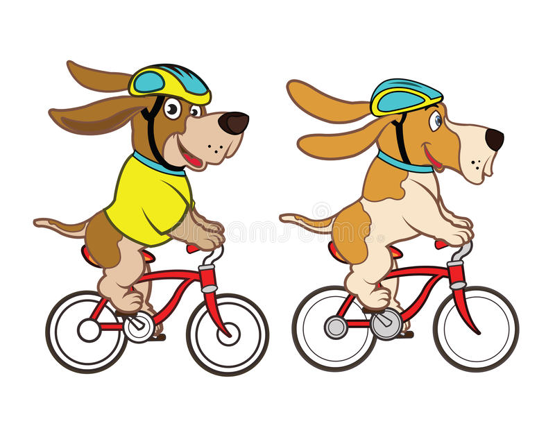 Download Cycling Dog Mascot stock illustration. Illustration of friendly - 31910610