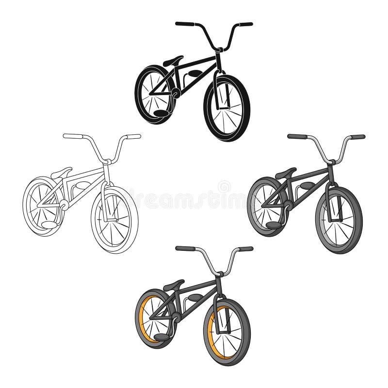 cycling Extreem sport enig pictogram in beeldverhaal, het zwarte Web van de de voorraadillustratie van het stijl vectorsymbool stock illustratie