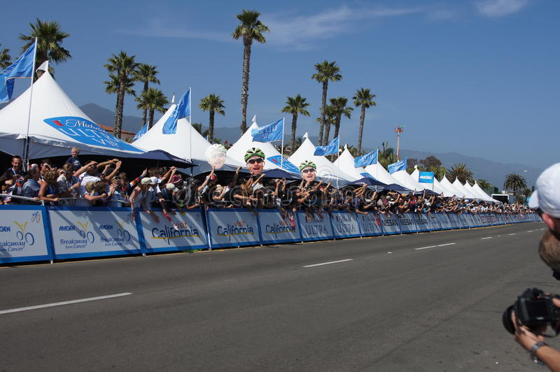 Cycling Fans 2013 Tour Of California Editorial Image
