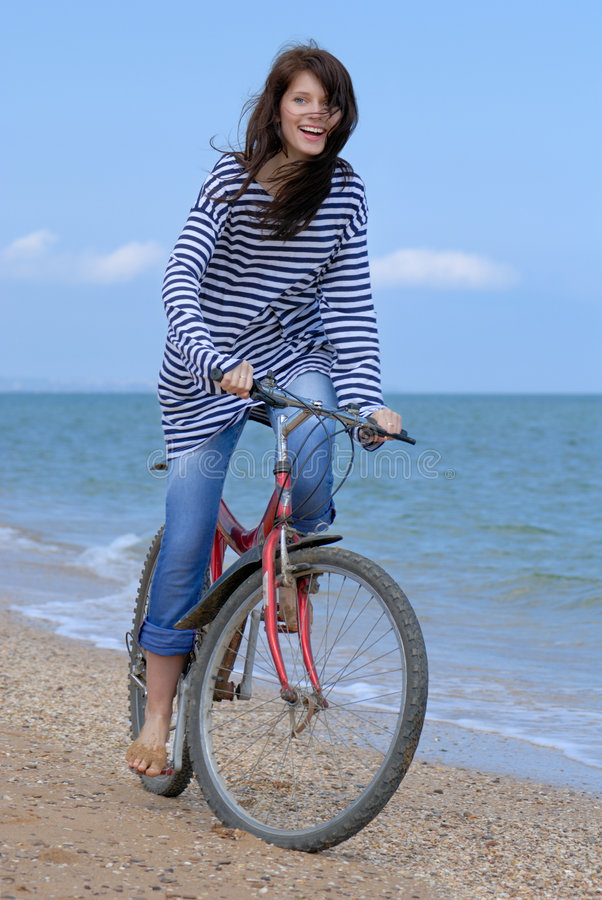Download Cycling girl stock photo. Image of beauty, lifestyle, laughing - 5397488