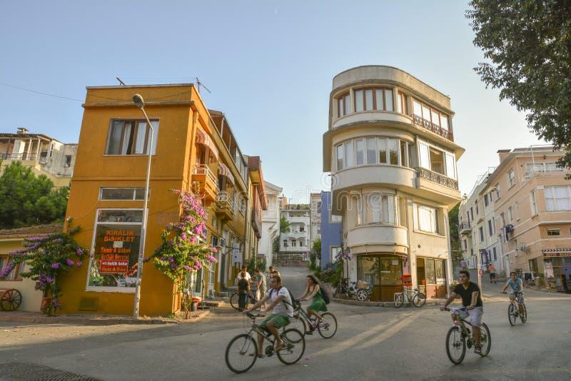 Cycling In Heybeliada, Istanbul, Turkey royalty free stock photography