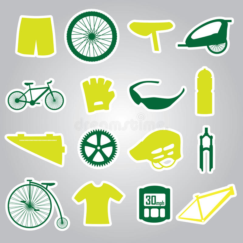 Download Cycling Icon Stickers Eps10 Stock Photo - Image: 36356780