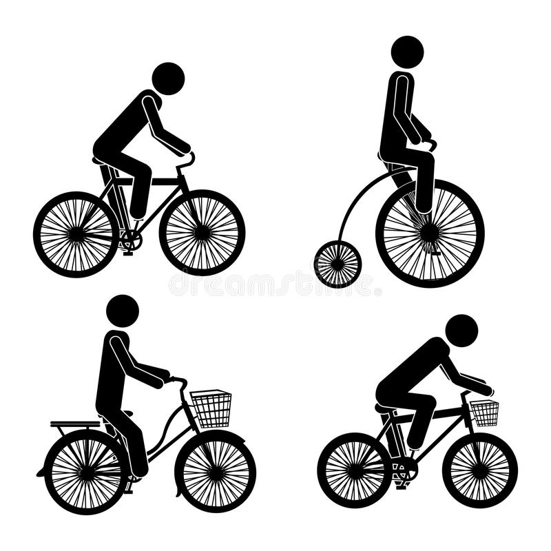 Cycling icons vector illustration