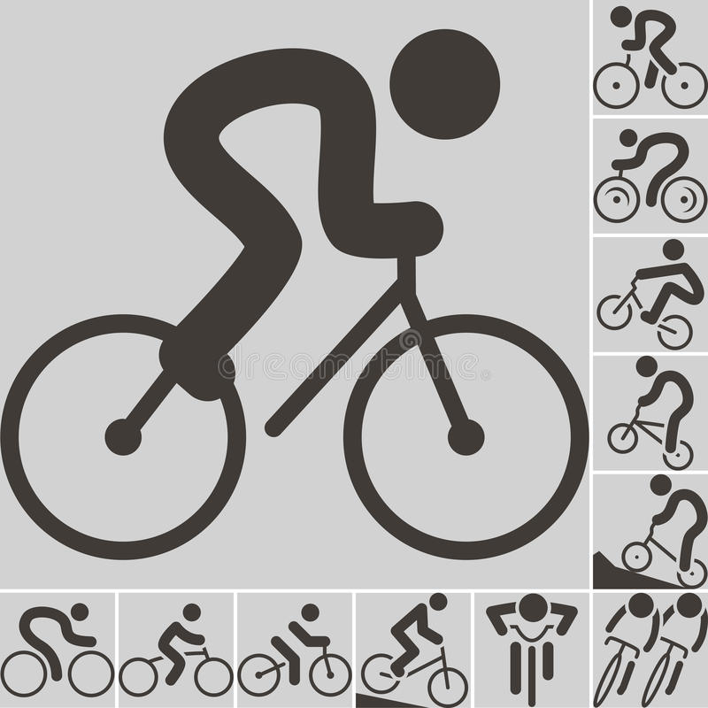 Cycling icons royalty free illustration