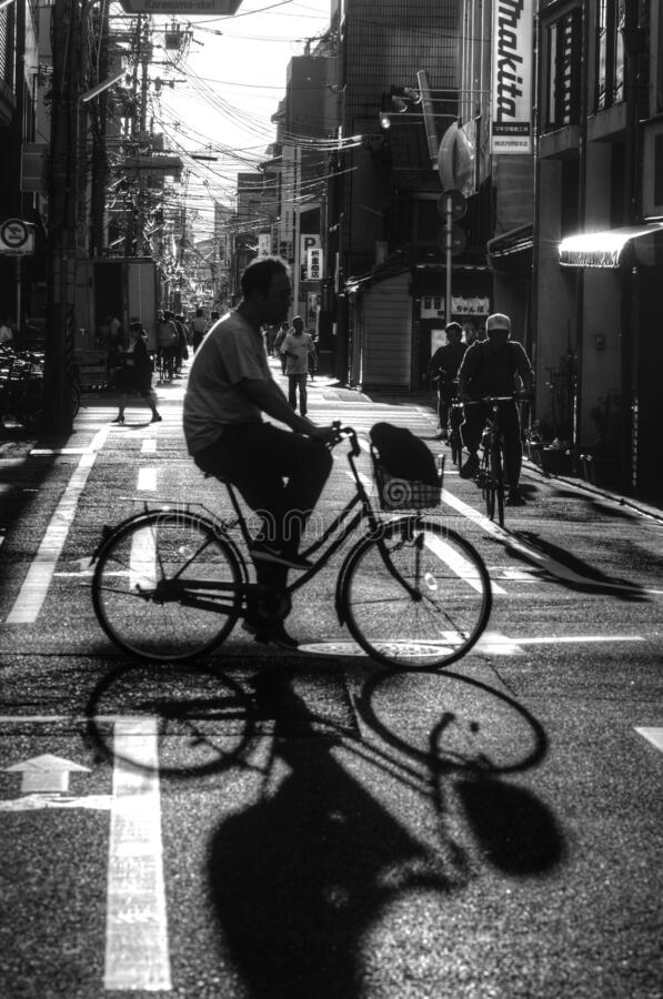 Free Cycling In Kyoto, Japan Stock Photos - 174029613