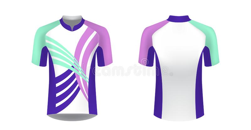 Soccer Jersey And T-shirt Sports Design Template Stock