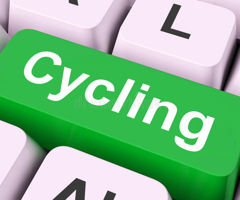 Cycling Key Means Bicycling Or Motorcycling Royalty Free Stock Images
