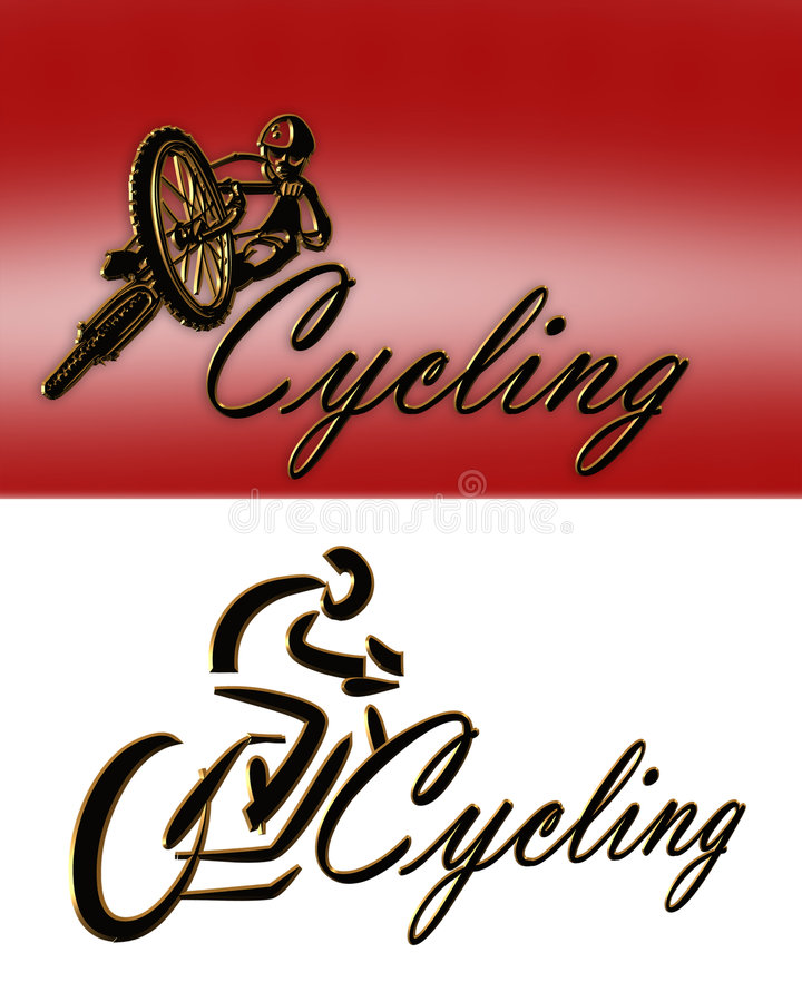 Download Cycling Logo 2 styles stock illustration. Illustration of gold - 7984696