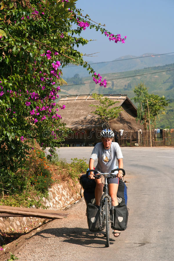 Download Cycling Through Northern Laos Stock Image - Image: 25721223