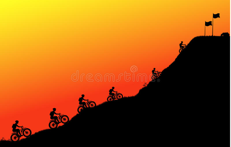 Cycling in the Peak royalty free illustration