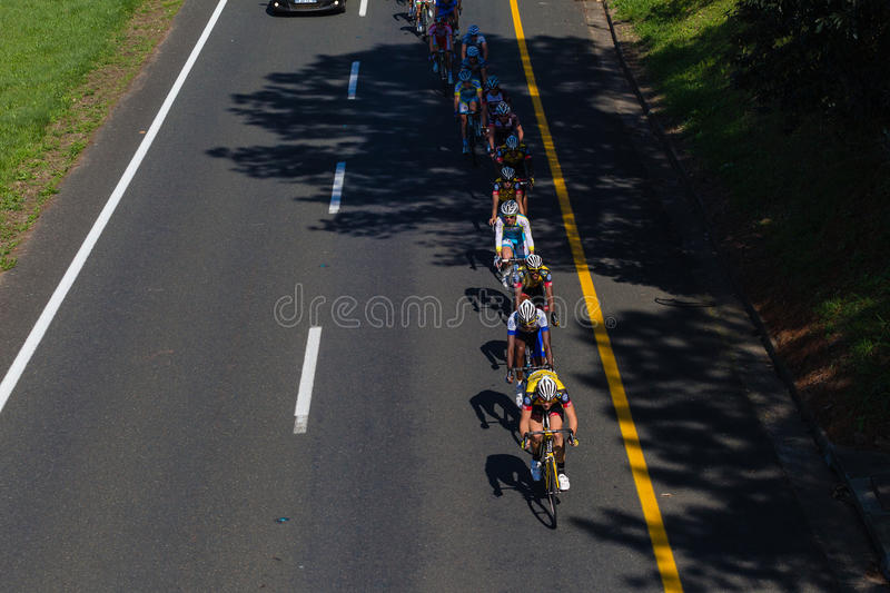 Cycling Peleton Race Editorial Image