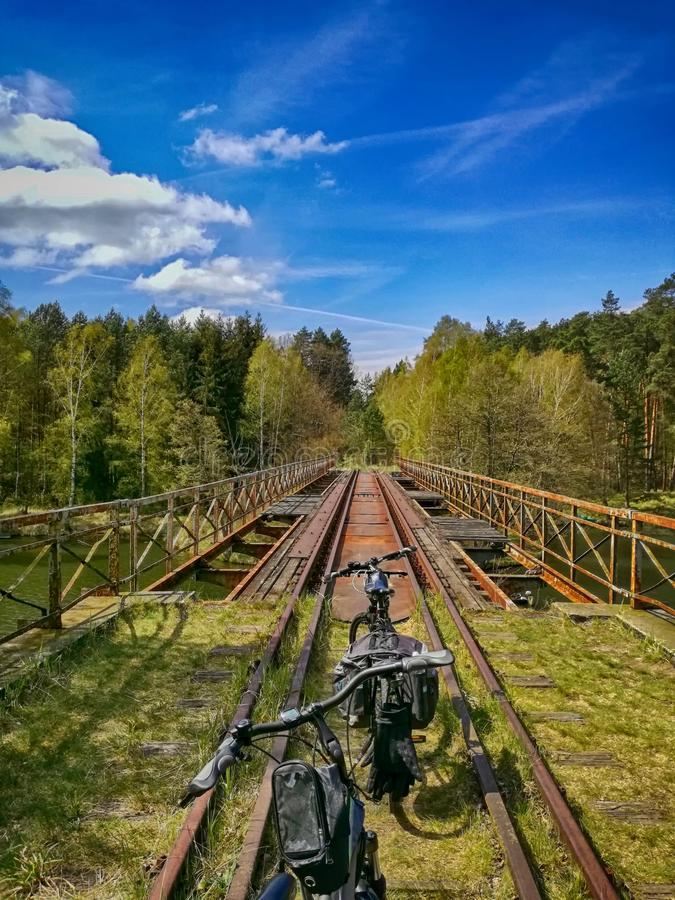 Cycling in Poland. stock photo