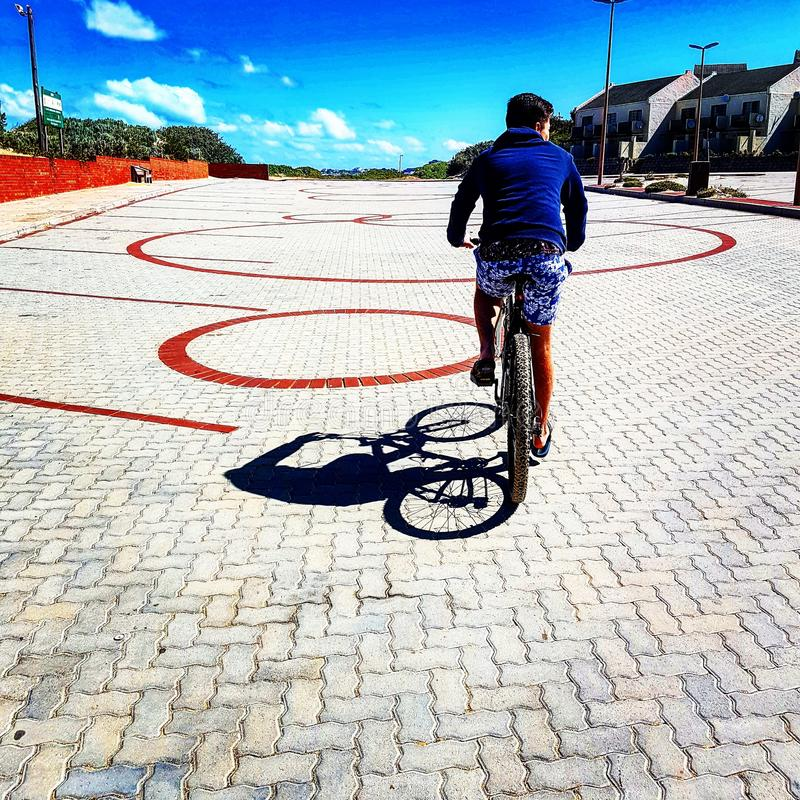 Cycling in Port Alfred royalty free stock images