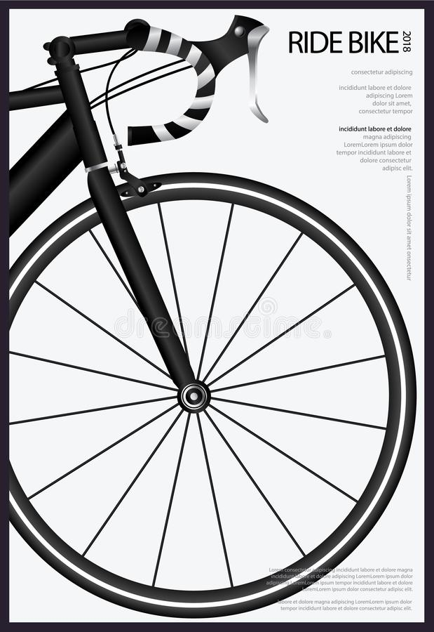 Cycling Poster Design stock illustration