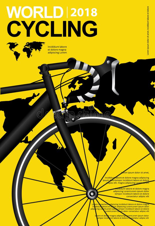 Cycling Poster Design vector illustration