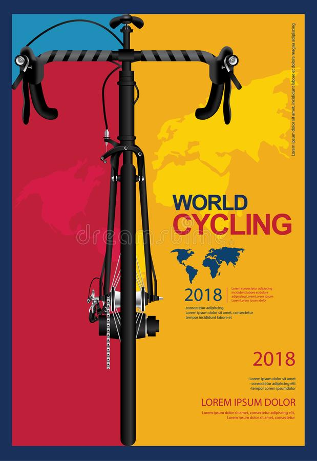 Cycling Poster Design royalty free illustration