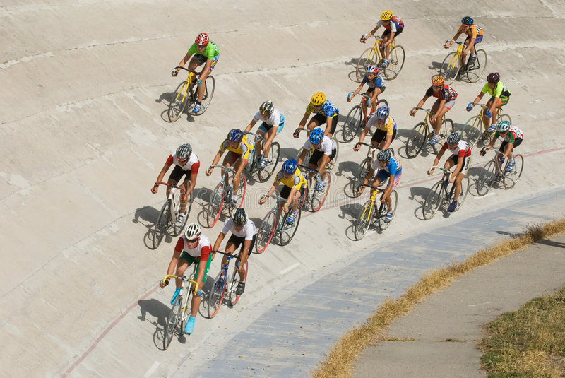Download Cycling Racing On Velodrome Editorial Stock Image - Image: 6574154