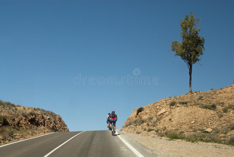 Cycling route, Cabo de Gata, Almeria. Spain stock photo