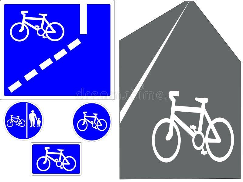 Cycling signs vector illustration