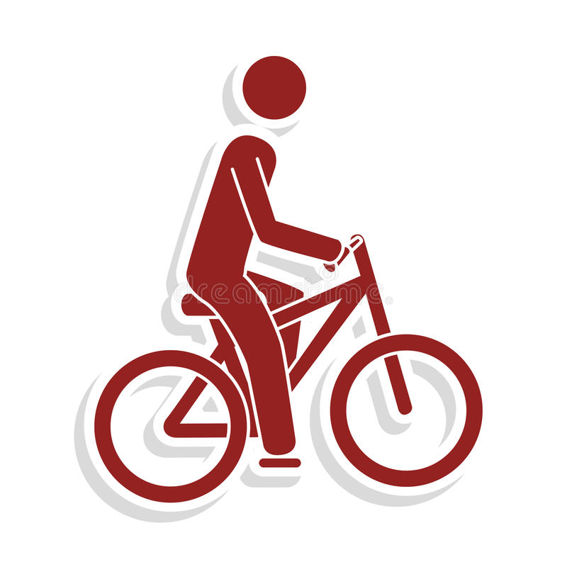 Cycling sport emblem icon royalty free illustration