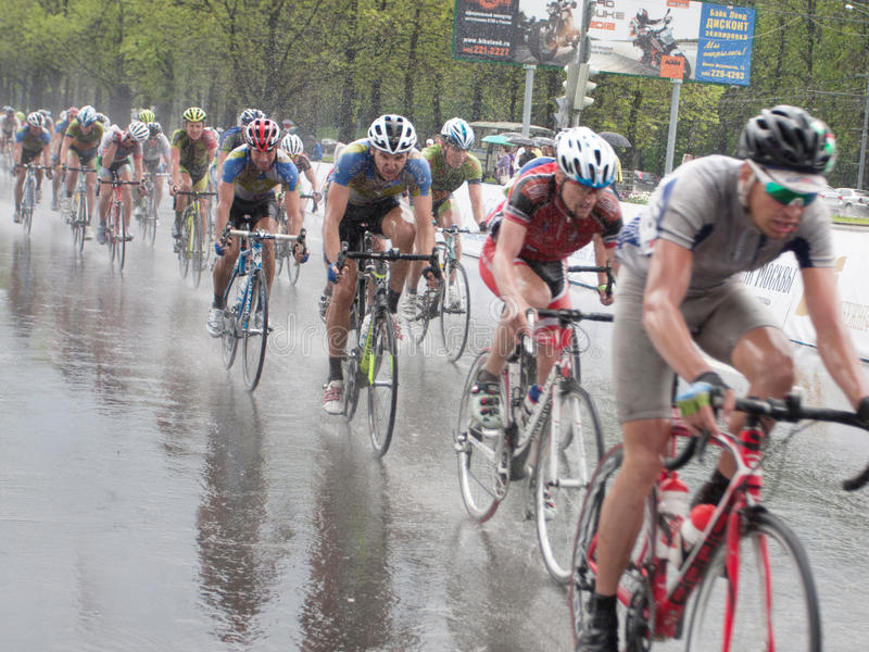 Cycling Street Race Editorial Stock Photo