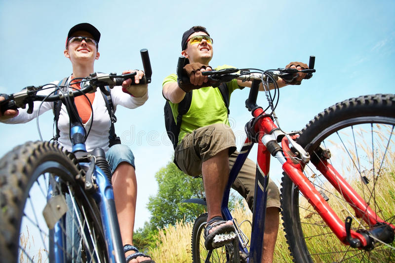 Cycling in summertime royalty free stock image