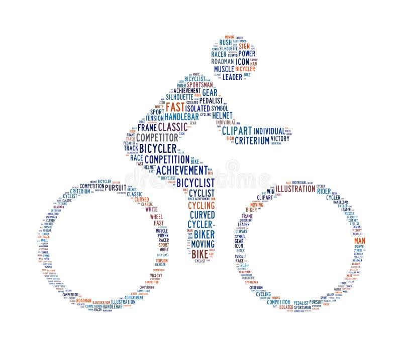 Cycling Text Symbol Royalty Free Stock Photos