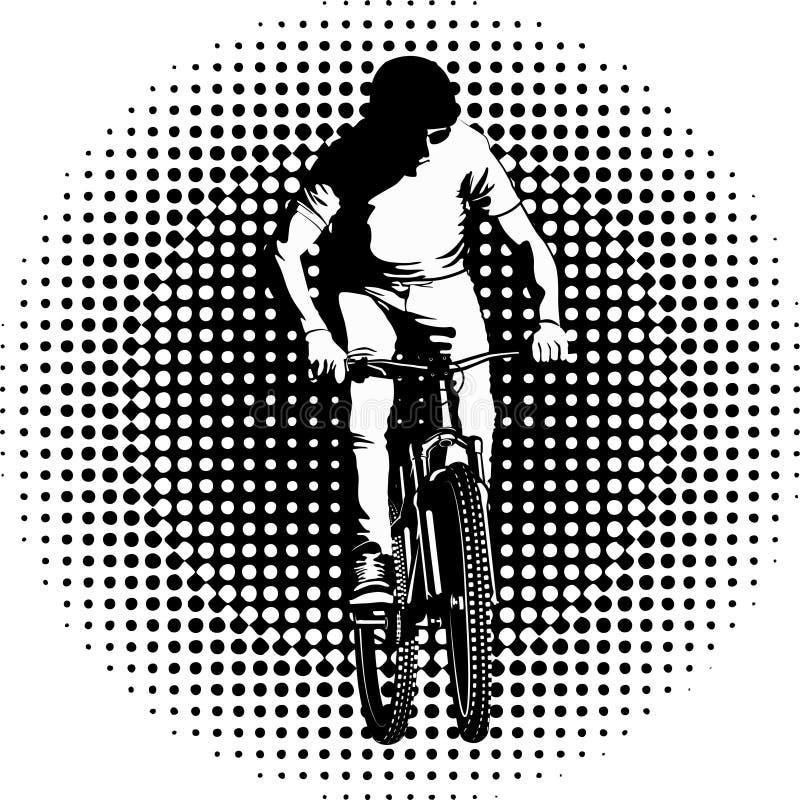 cyclist ilustração stock