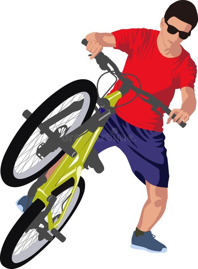 cyclist ilustração do vetor