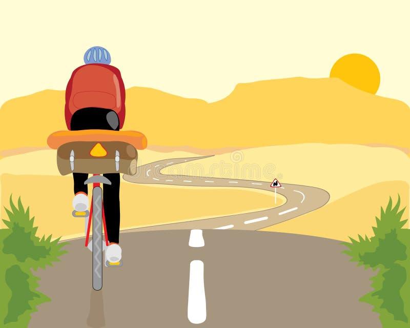 Cyclist royalty free illustration