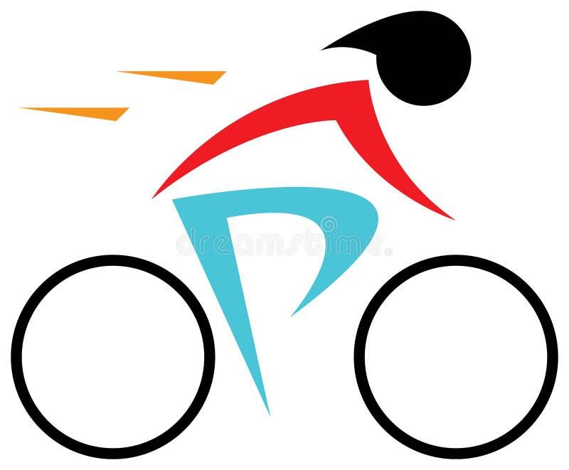 Cyclist. Isolated line art work