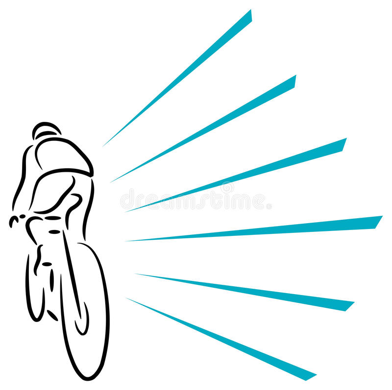 Download Cyclist stock vector. Illustration of illustration, speed - 16882238