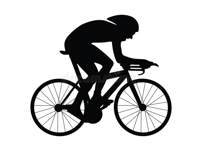 Download Cyclist stock vector. Image of black, acceleration, illustration - 4121969