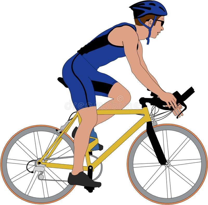 Cyclist stock illustration