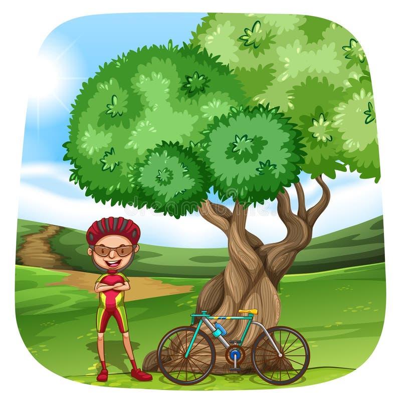 Download Cyclist illustrazione vettoriale. Illustrazione di sport - 55365213