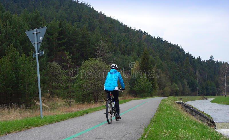 cyclist fotografia stock