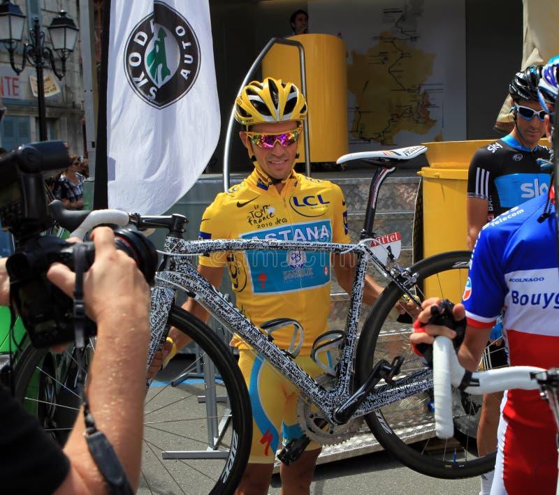 Download Cyclist Alberto Contador editorial photography. Image of cycling - 17162307