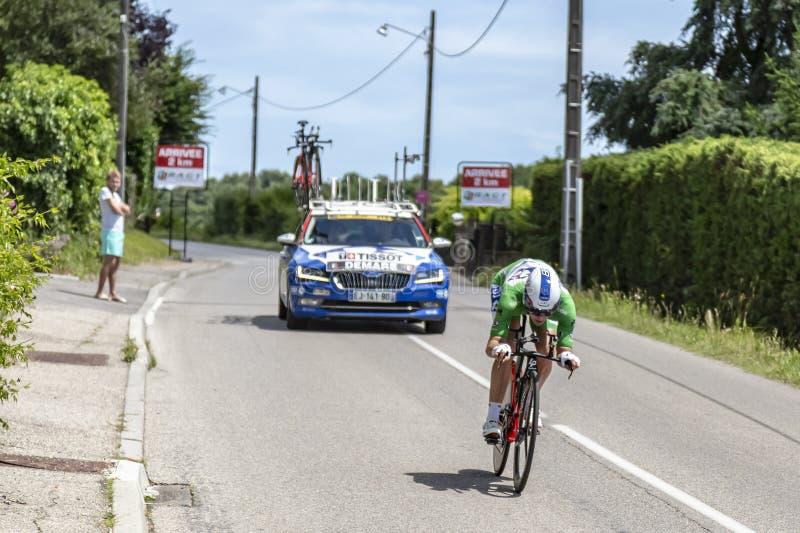 The Cyclist Arnaud Demare - Criterium du Dauphine 2017 royalty free stock image
