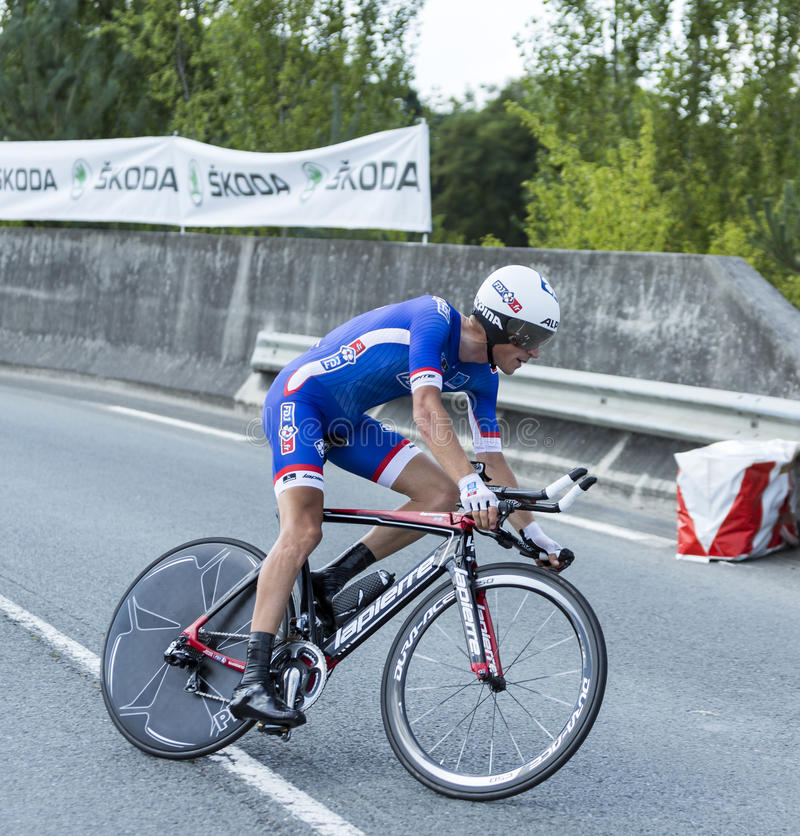 The Cyclist Arnold Jeannesson - Tour de France 2014 royalty free stock image