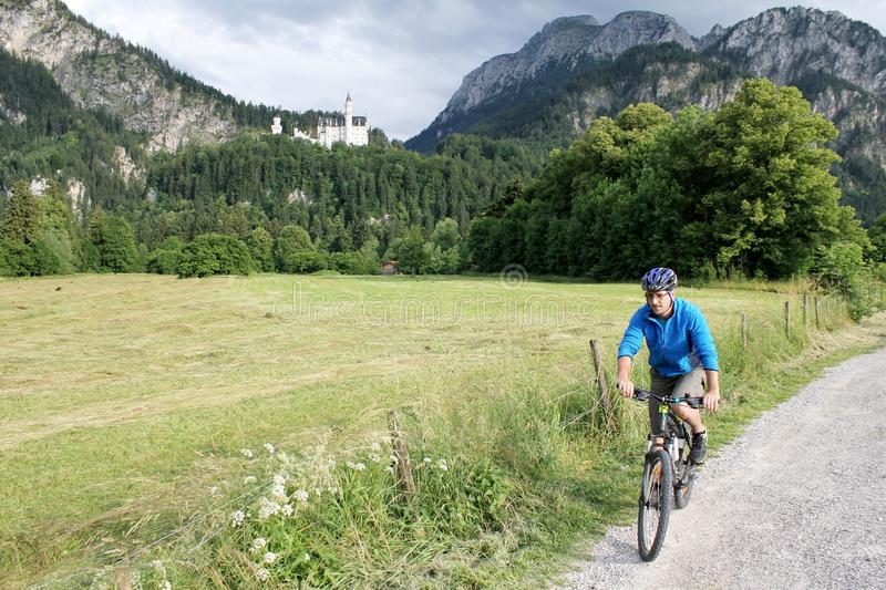 Cyclist in Bavaria stock image